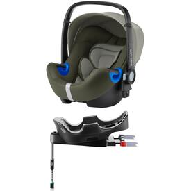 PACK SEGGIOLINO AUTO ROMER BABY SAFE I-SIZE OLIVE GREEN